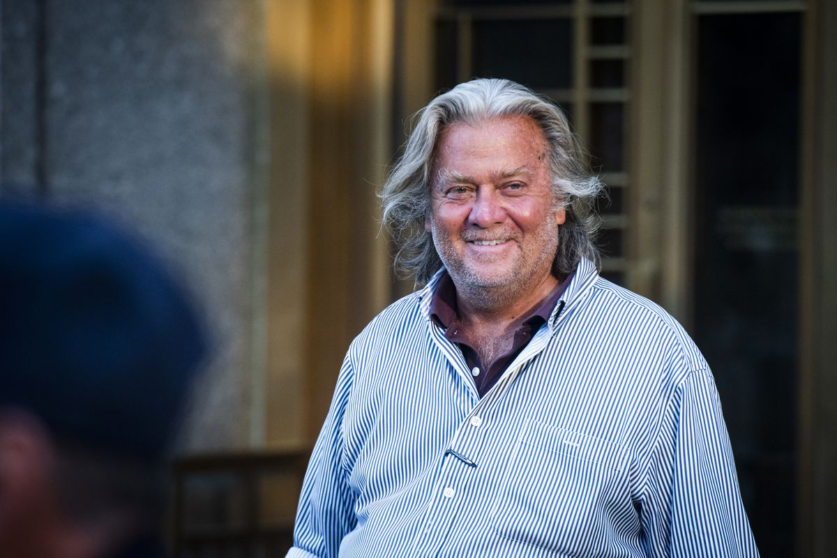 StephenBannonCharged With Fraud Over Border Wall Group