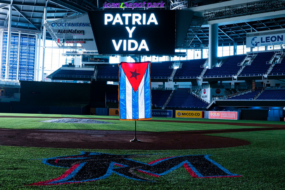 The official Marlins Twitter account tweeted a message to show their support for the ongoing protests in Cuba