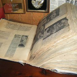 Don Fullmer kept a scrapbook of every article written about him and his brothers and their fights.
