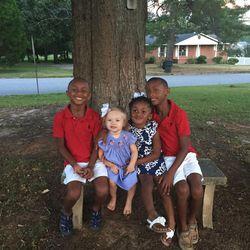 The Oden children take a break July 4, 2016. From left, Elijah, Annabelle, Gabbi and Kentrell.