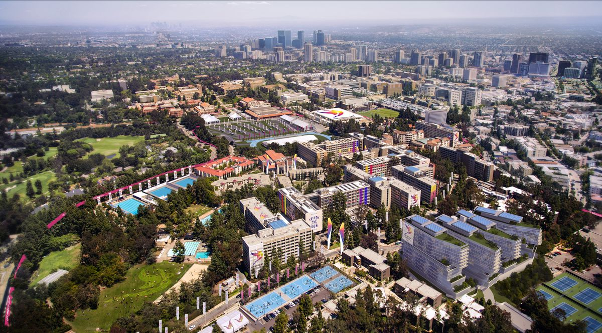 Aerial view of UCLA