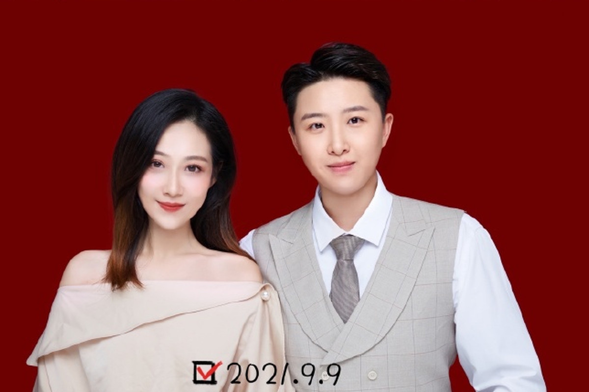 Sun Wenjing, right, with her girlfriend in an image she posted in the Chinese website Weibo.