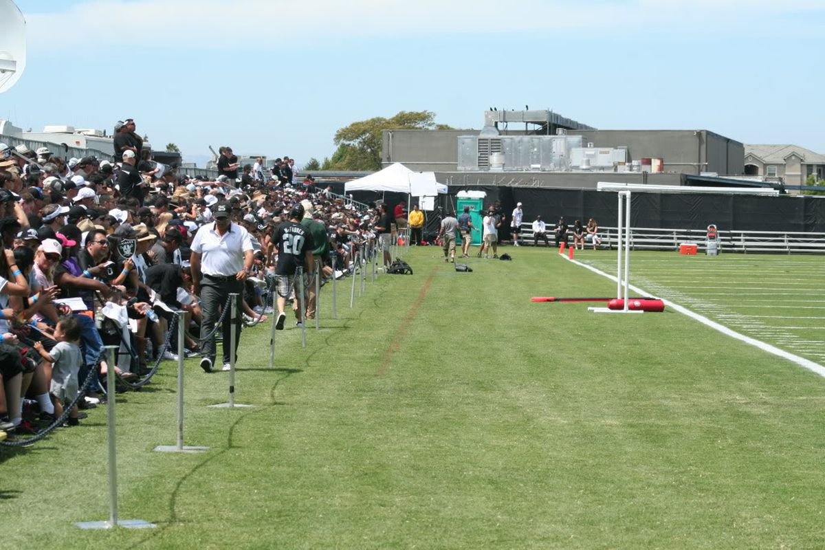 Fans in attendance at Oakland Raiders 2012 training camp in Napa California