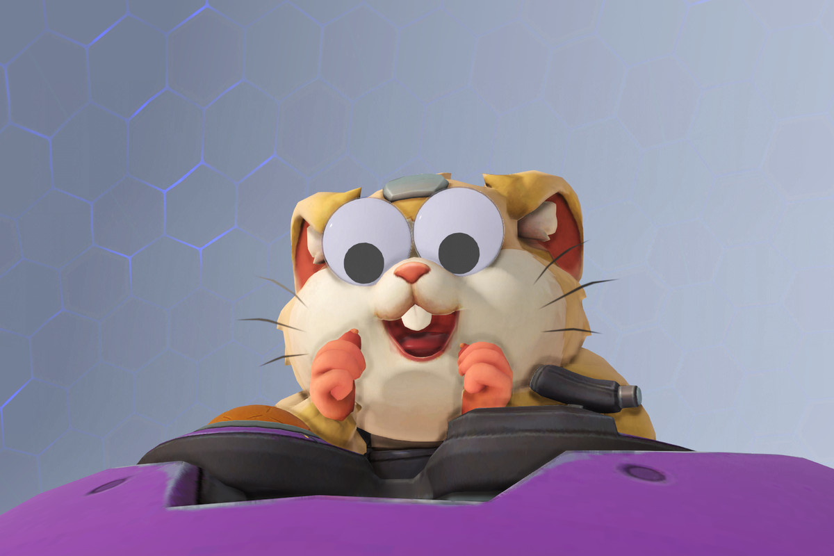 Overwatch - Hammond emerges from the Wrecking Ball mech with googly eyes on