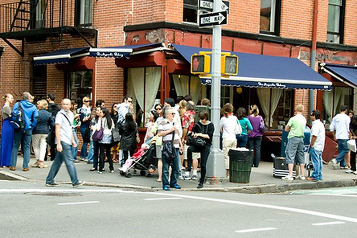 The Usual Chaos Outside Magnolia Bakery Downtown