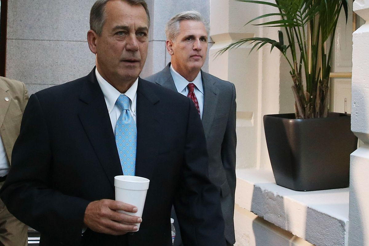 John Boehner and Kevin McCarthy, during the October 2013 federal government shutdown.