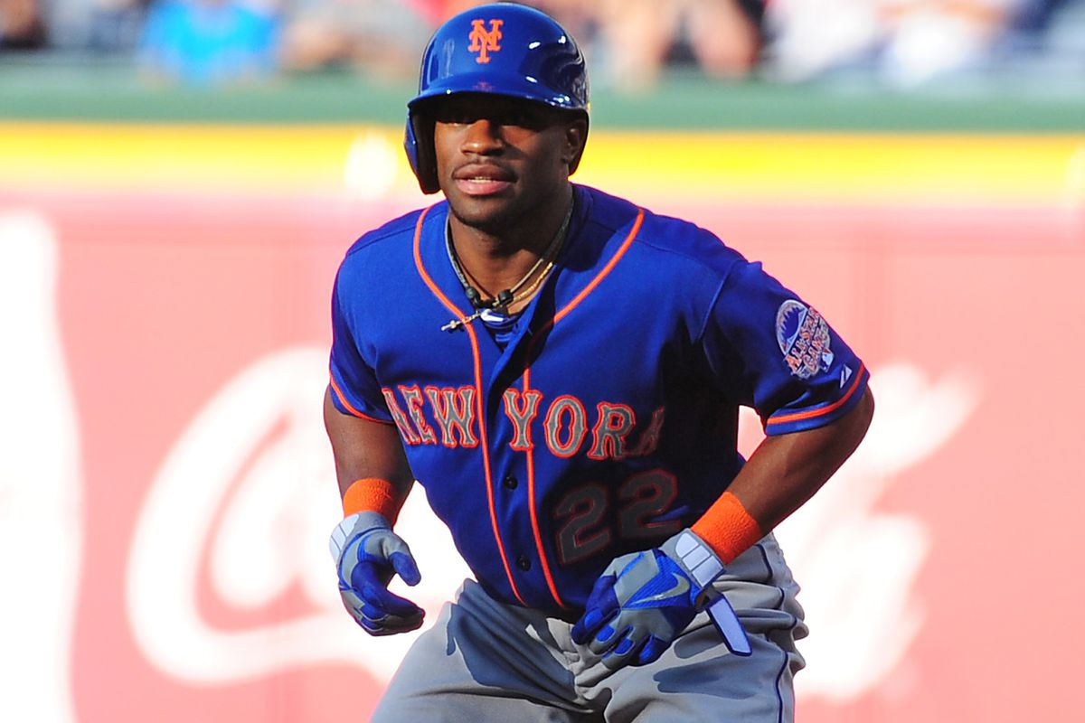 Eric Young is now hitting lead-off and starting in center-field for the Mets.
