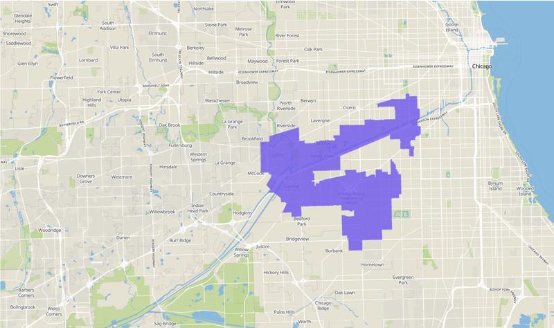 Illinois Senate 11th District map, 2020 election