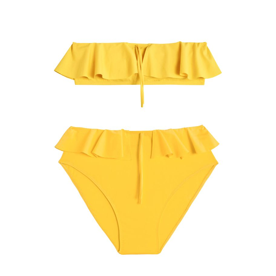 A yellow bikini