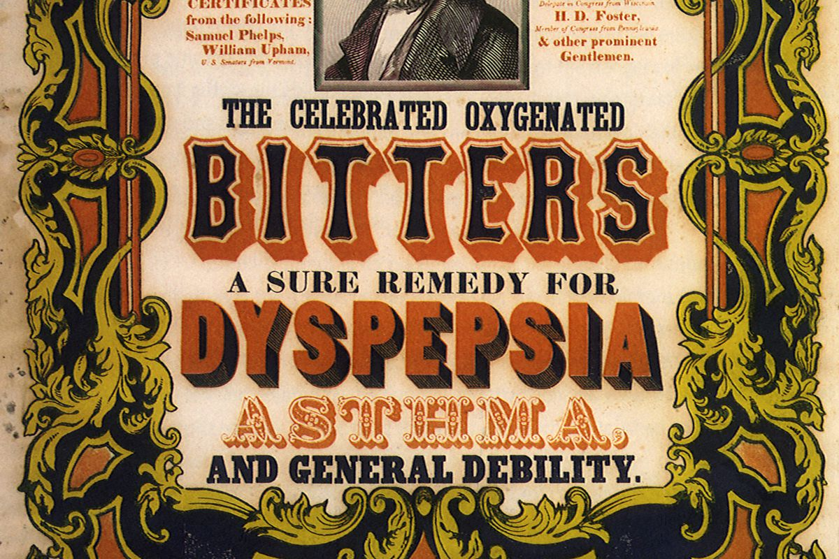 The Celebrated Oxygenated Bitters.