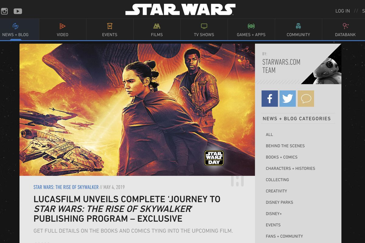 Lucasfilm Reveals All Star Wars Books That Will Lead Up To The Rise Of Skywalker Deseret News