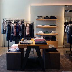The men's section.