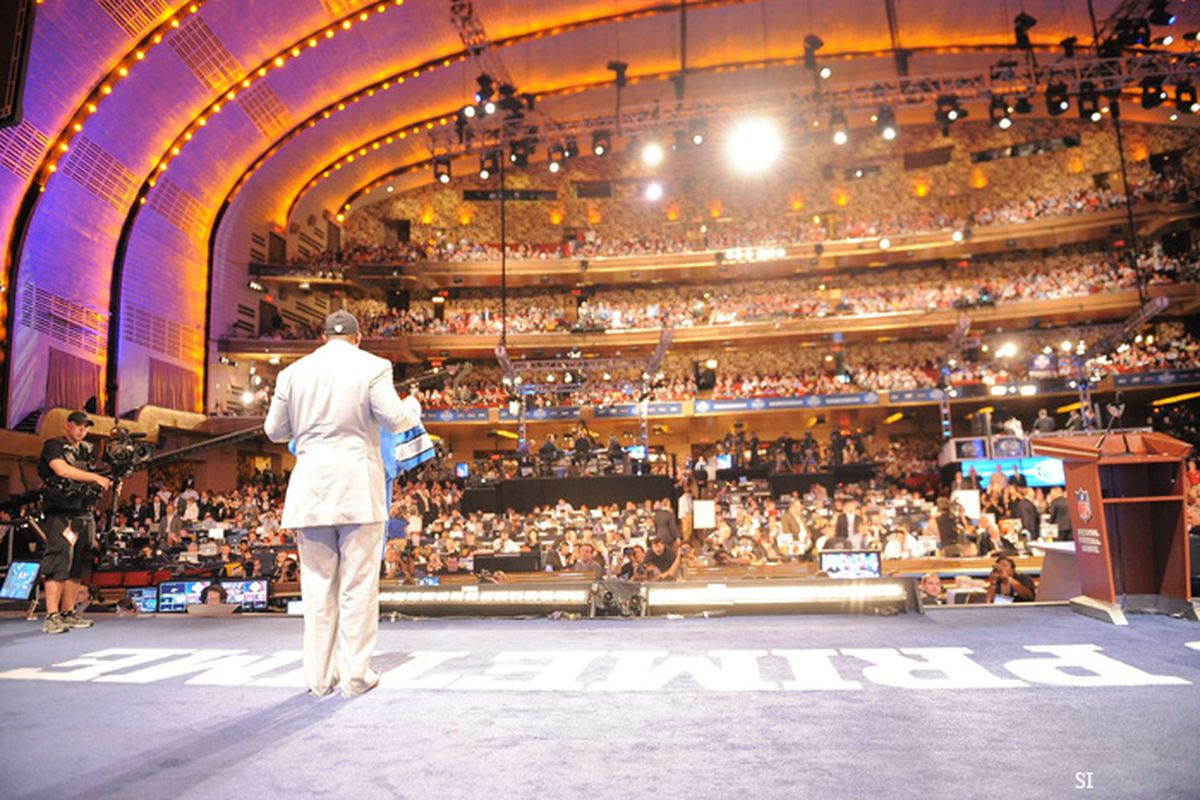 """Players view of the draft. (via @<a href=""""http://twitter.com/#!/si_vault"""" target=""""new"""">si_vault</a>)"""