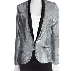 """<strong>Missy Sequin Blazer</strong> IRO at Scoop NYC, <a href=""""http://www.scoopnyc.com/missy-sequin-blazer#"""">$619</a>"""