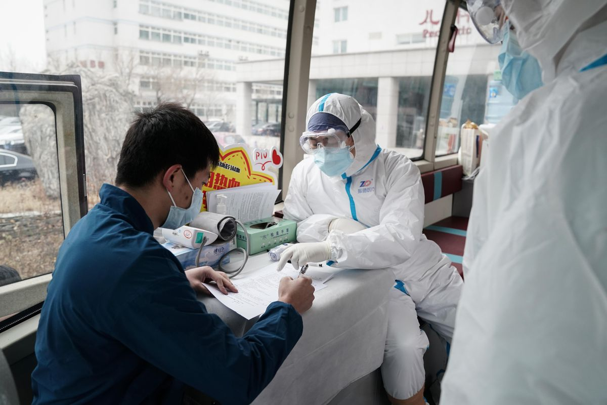 Recovered COVID-19 Patients Donate Plasma In Beijing