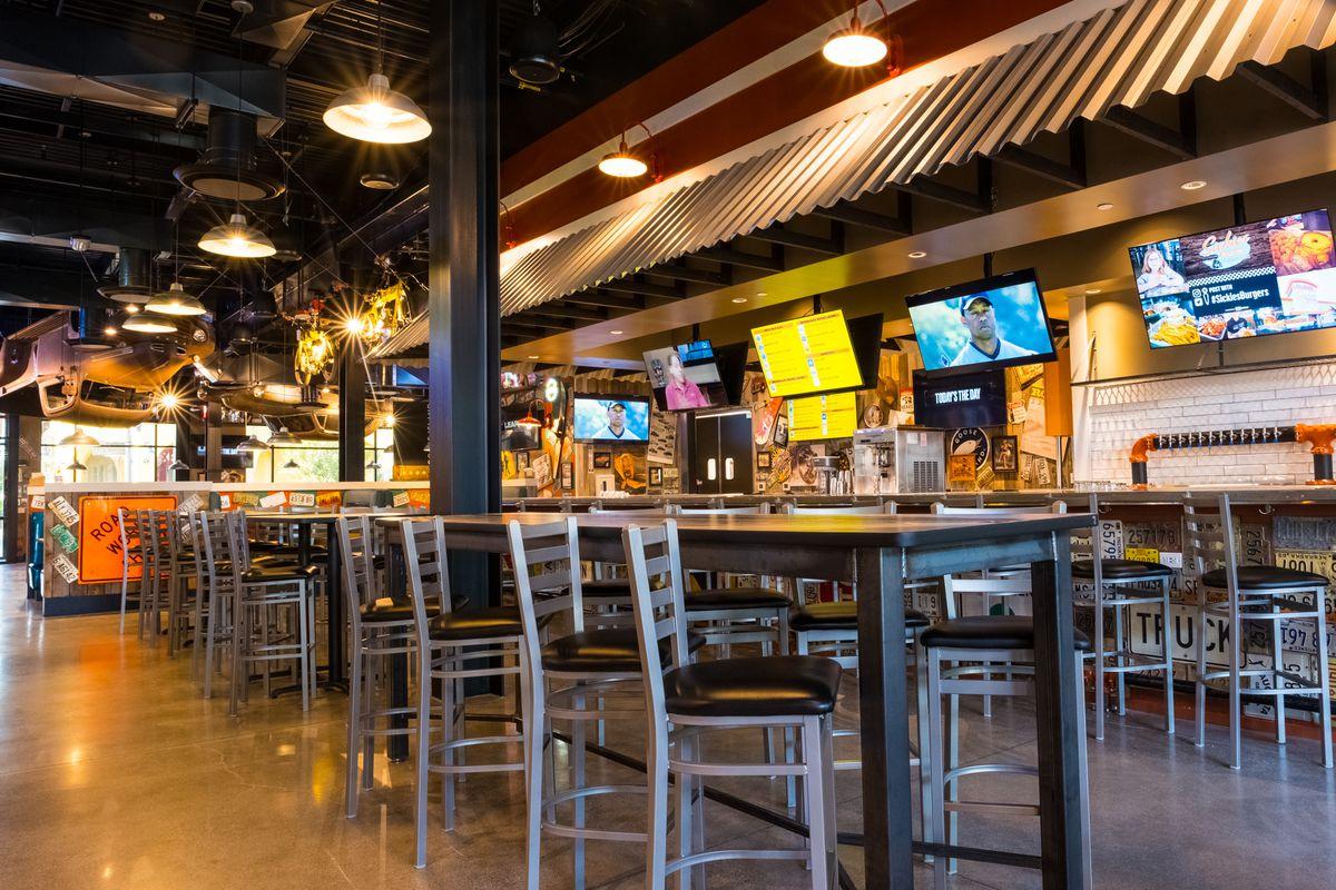 A bar area at a restaurant