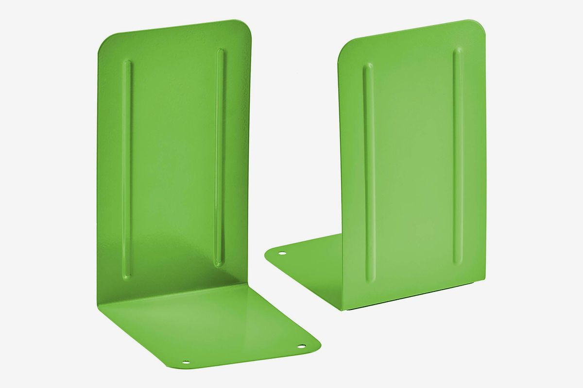 Two lime green bookends.