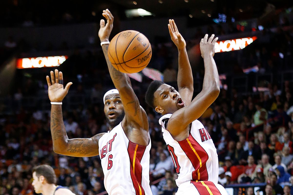 LeBron James and Norris Cole