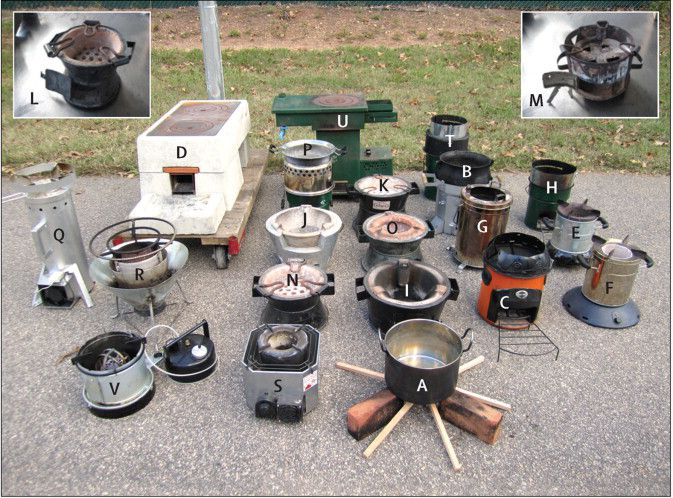 types of cookstoves