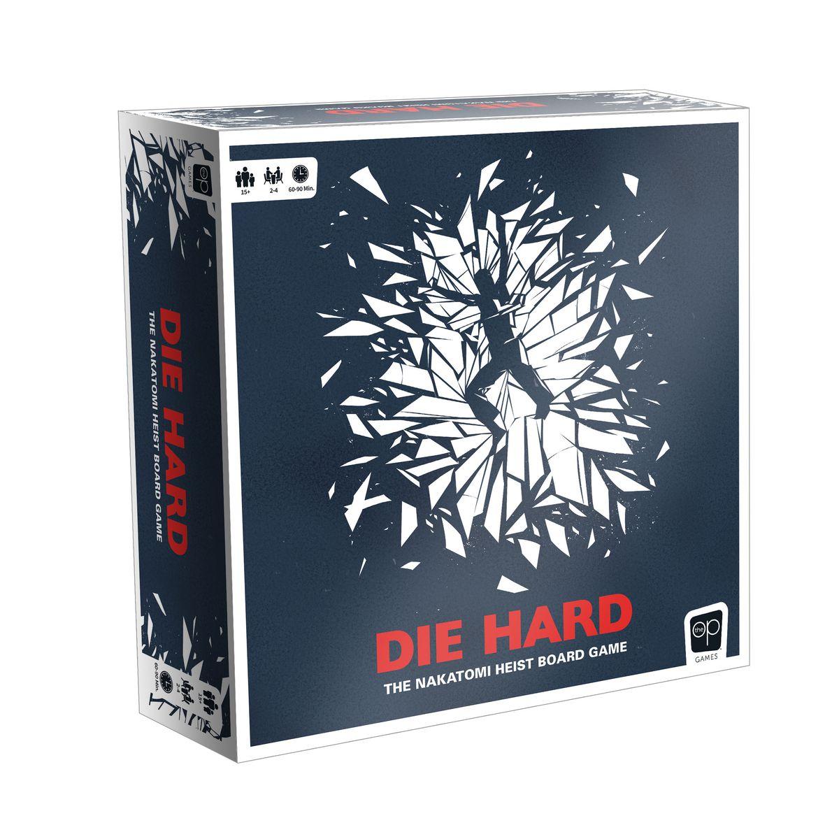 A mockup of the box art for Die Hard: The Nakatomi Heist Board Game.