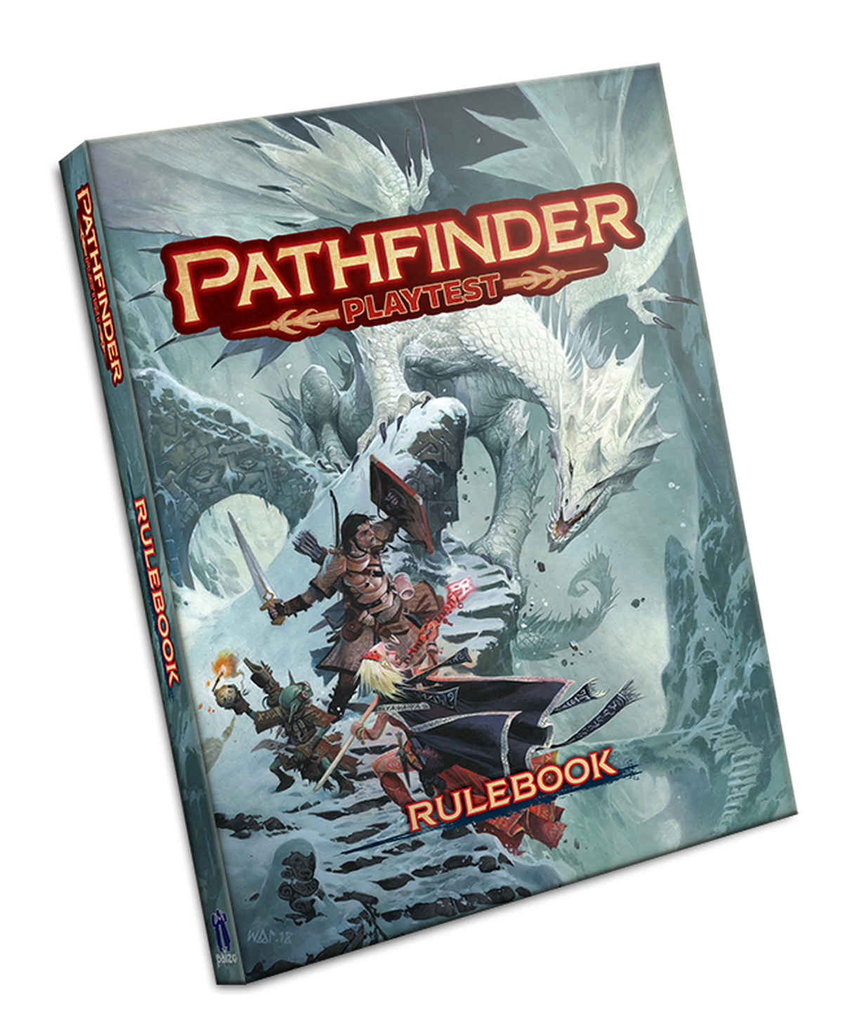 Pathfinder with roots in a decades old strain of dd is launching a mock up of the pathfinder playtest cover fandeluxe Gallery