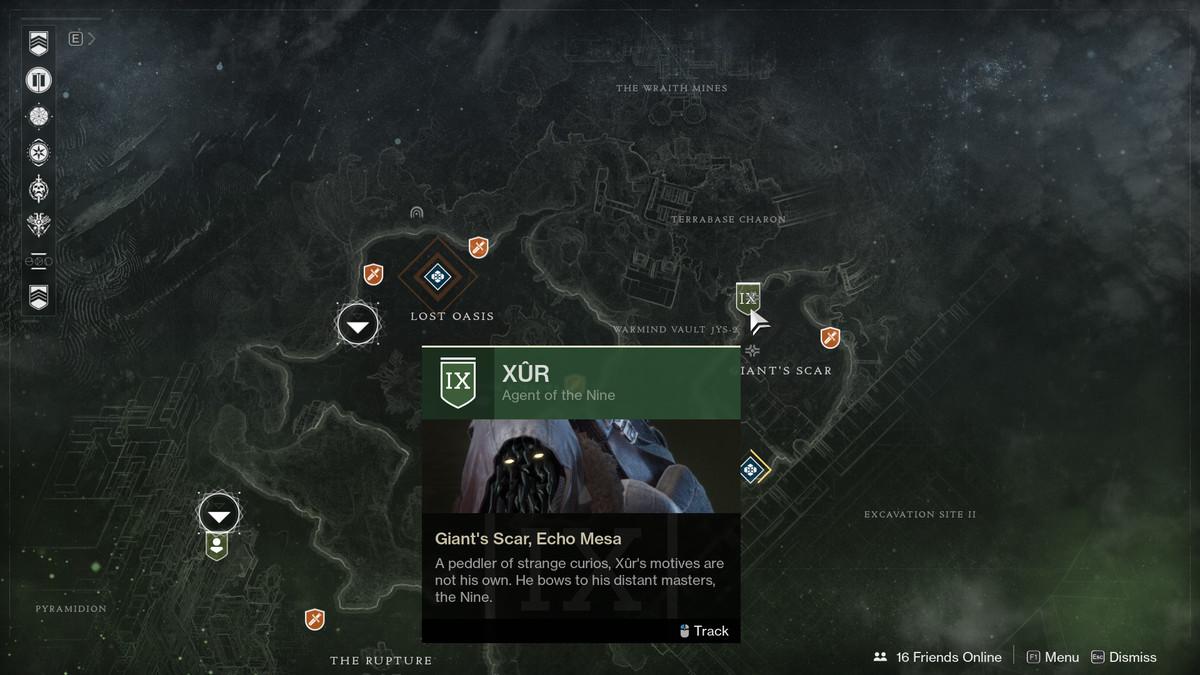 Destiny 2 Xur Io