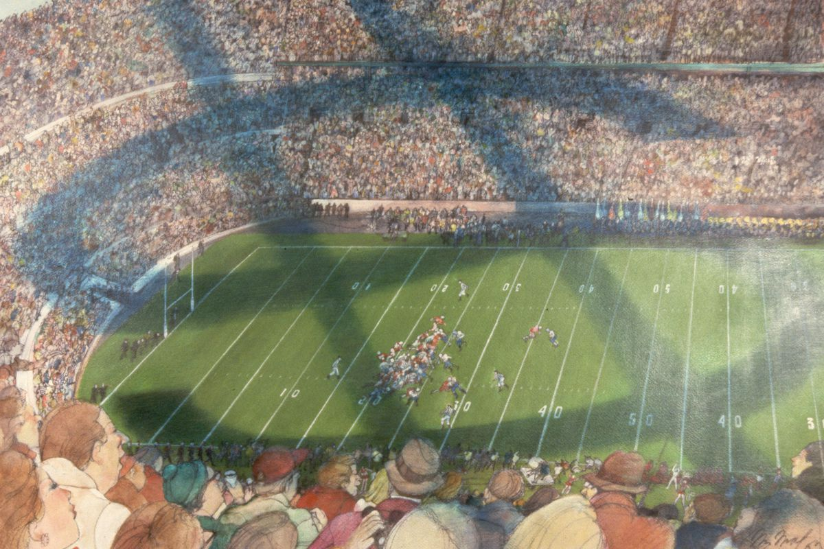 Stadium with Dollar Sign by Franklin McMahon