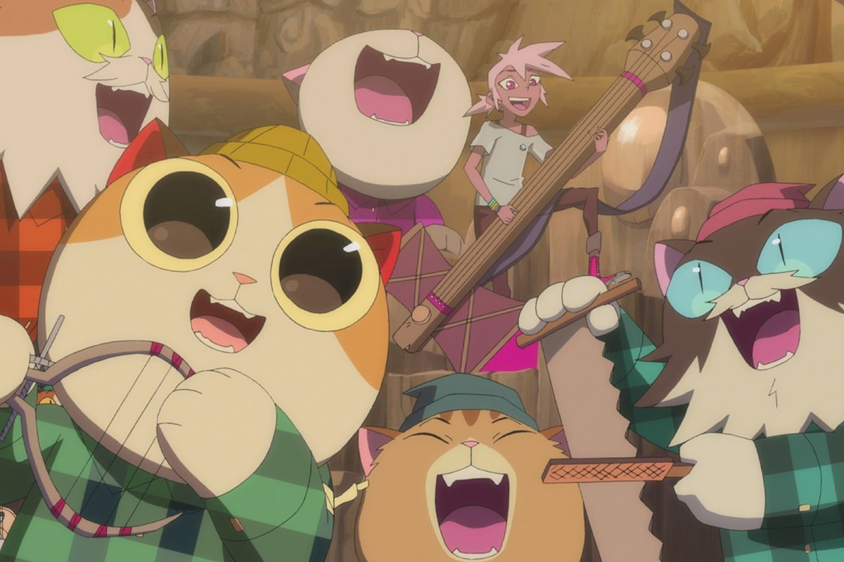 kipo singing with a group of timbercats!