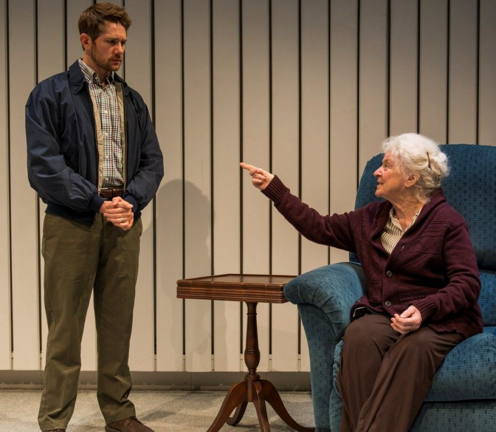 """Erik Hellman and Mary Ann Thebus in the Writers Theatre production of """"Marjorie Prime."""" (Photo: Michael Brosilow)"""