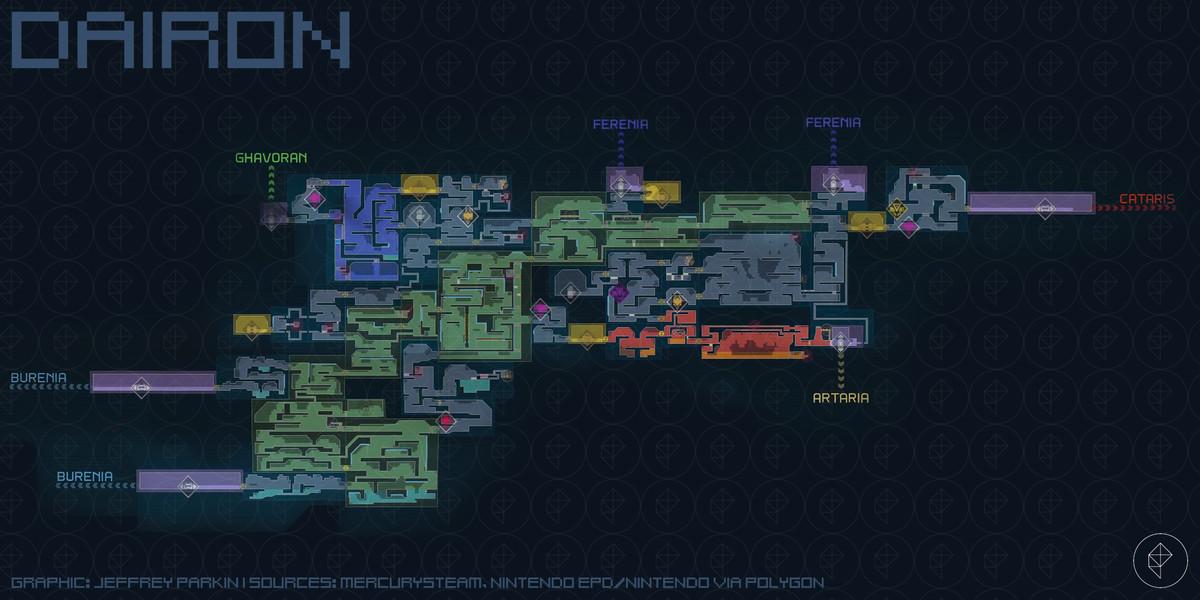 Metroid Dread Dairon map