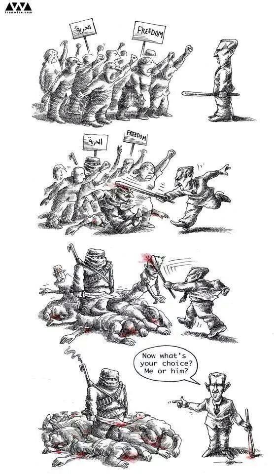 assad cartoon iranwire mana neyestani