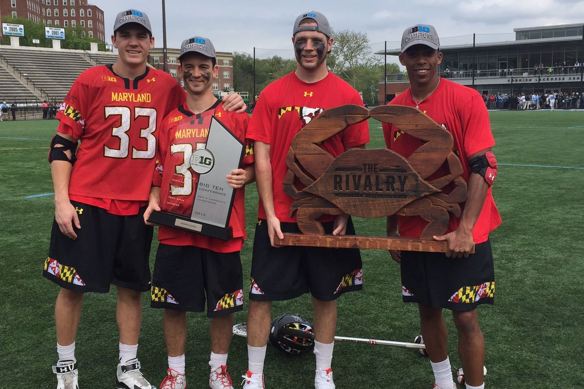 (Left to right) Matt Dunn, Kyle Bernlohr, Bryan Cole and Isaiah Davis-Allen were four of Maryland's eight All-Americans