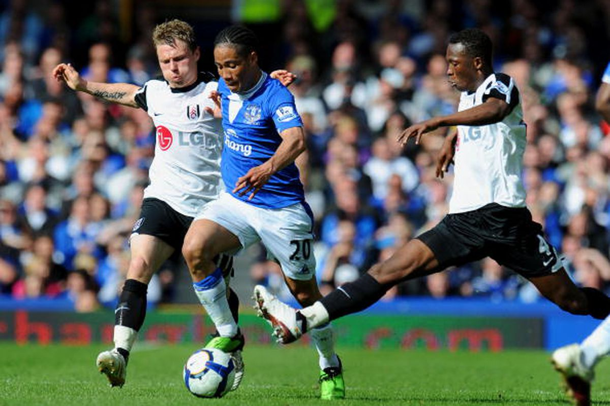 Bjorn Helge Riise of Fulham against Everton 4/25  Photo via Getty Images