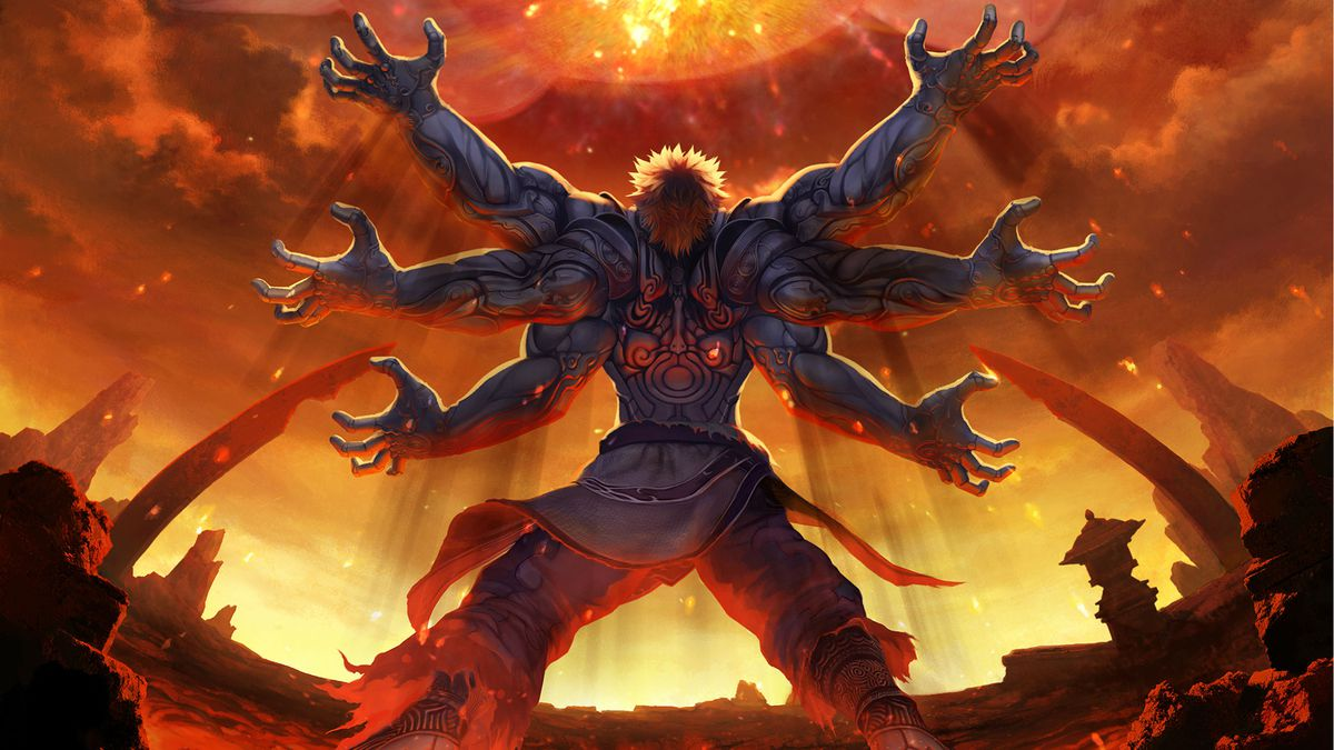 Asura gets ready to fight the heavens