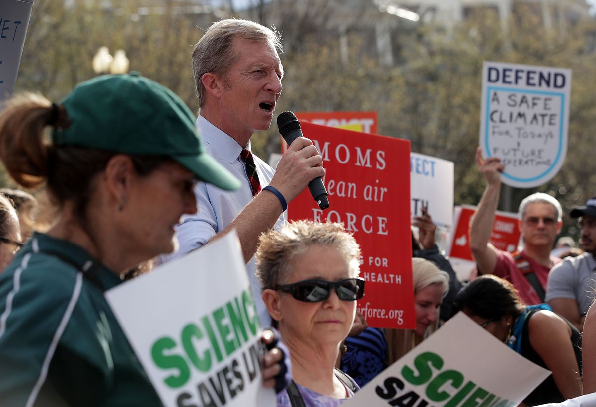 Activists Protest Against Trump Rollback Of Environmental Regulations