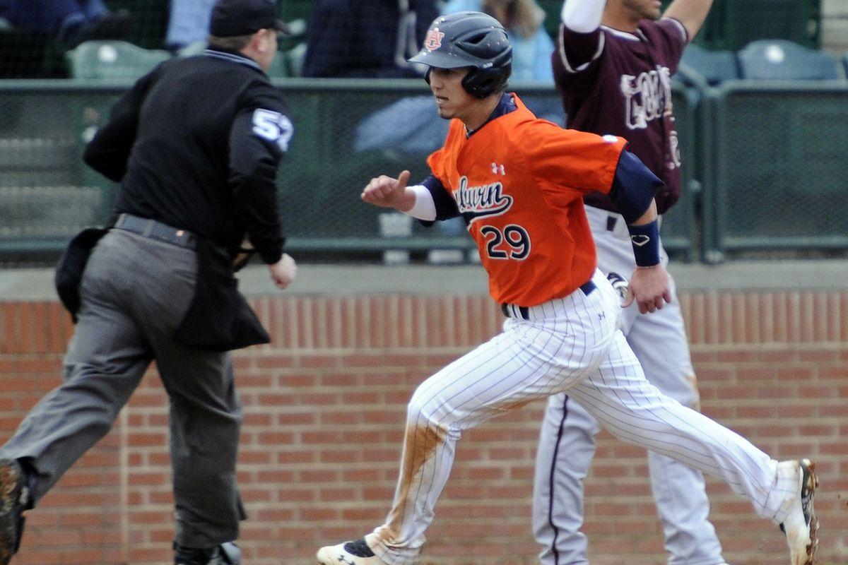 Dan Glevenyak hit two home runs in the eighth inning. He now has three in his Auburn career.