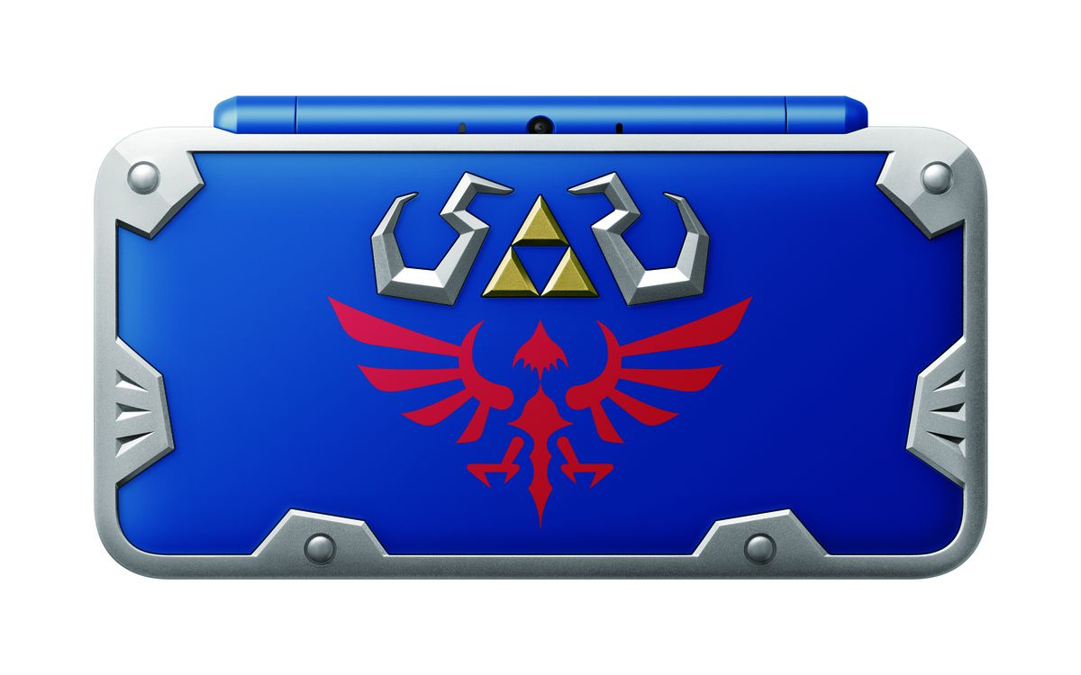 New Nintendo 2DS XL Hylian Shield Edition - view of top of case