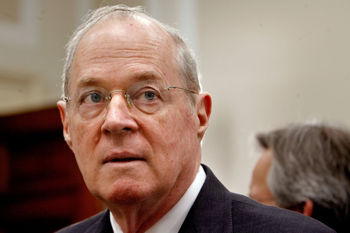Justice Anthony Kennedy prepares to testify before Congress.