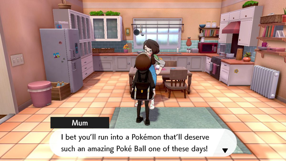 My Pokemon character talking to her mom