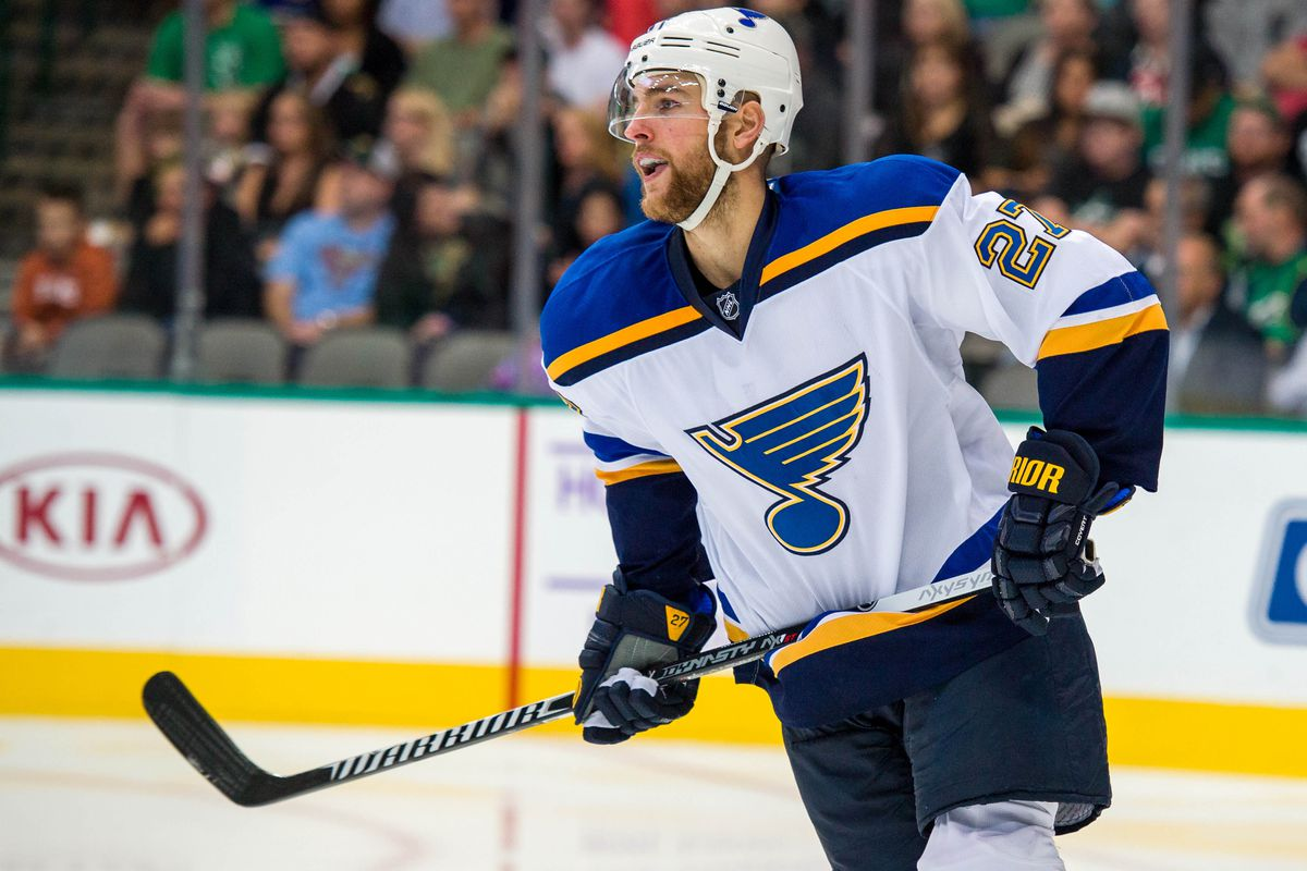 Trading THIS guy seems to be all the rage among blithering fucking morons in the Blues' fan base these days.