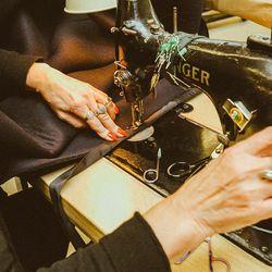 A seamstress at work.