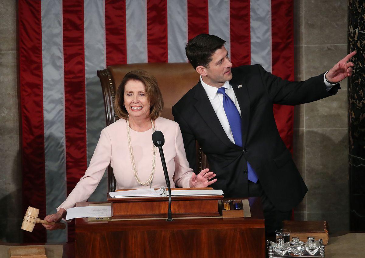 Paul Ryan Swears In Members Of The 115th Congress