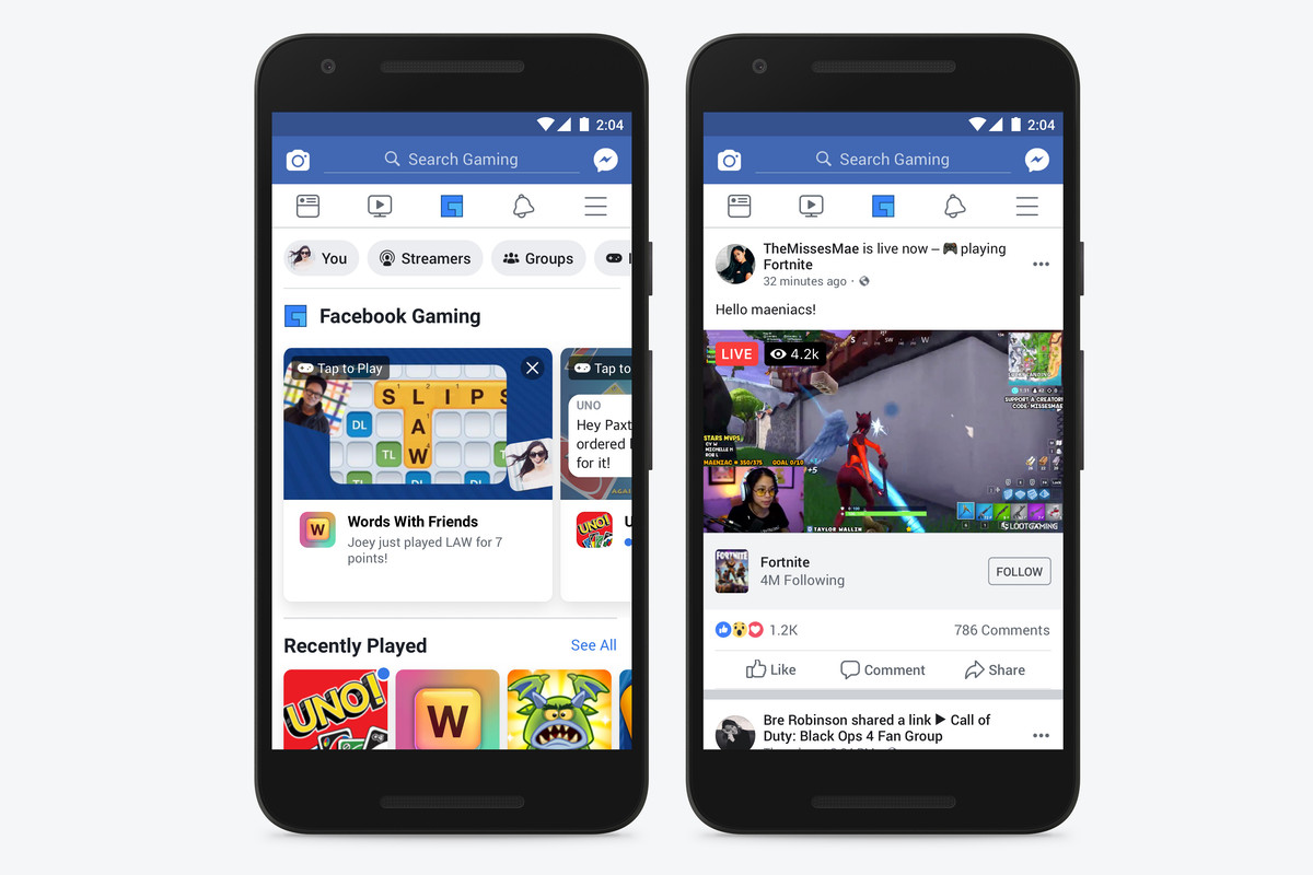 Facebook adds dedicated gaming tab to its mobile app - The Verge
