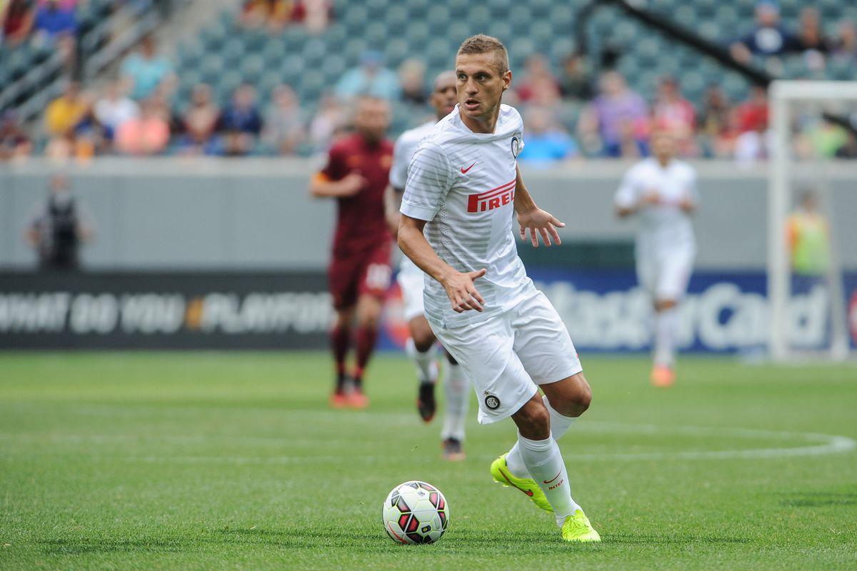 The first of Inter's summer signings, Nemanja Vidic
