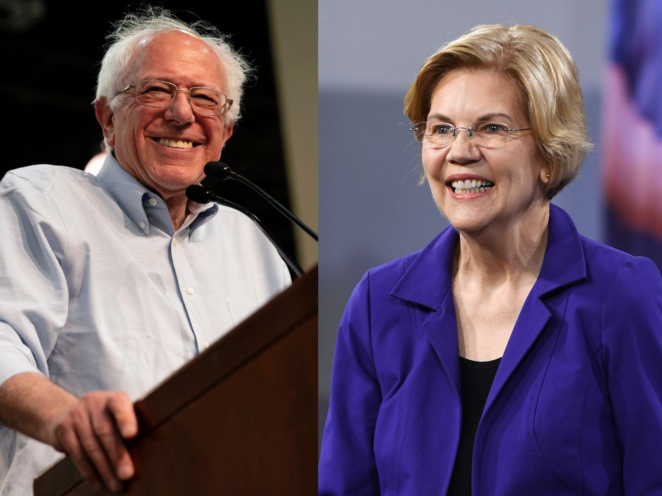 Bernie Sanders and Elizabeth Warren, friends in the Senate, and now competitors in the Democratic 2020 primary, are the two most progressive candidates in the field.