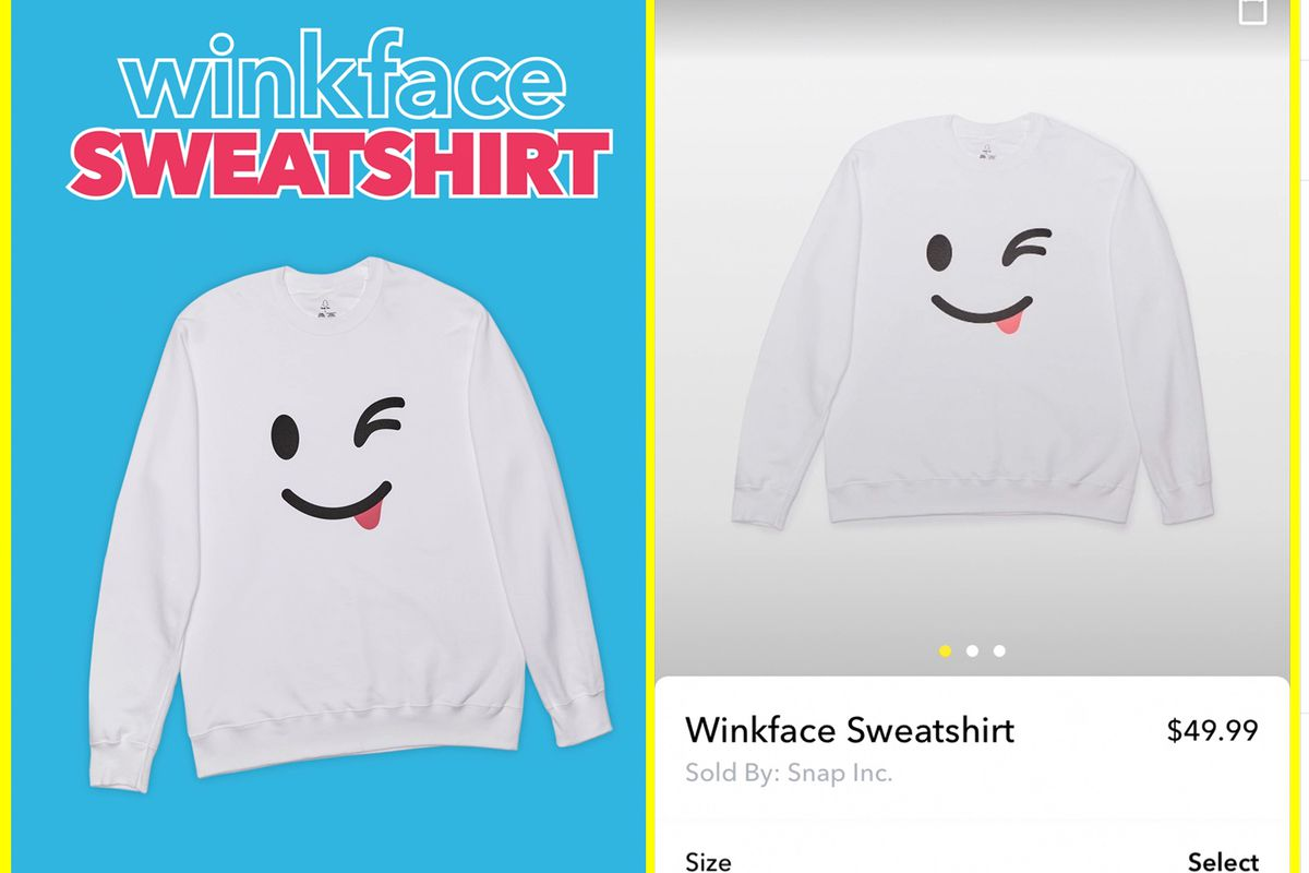 Snapchat is now selling hats and sweatshirts inside its app