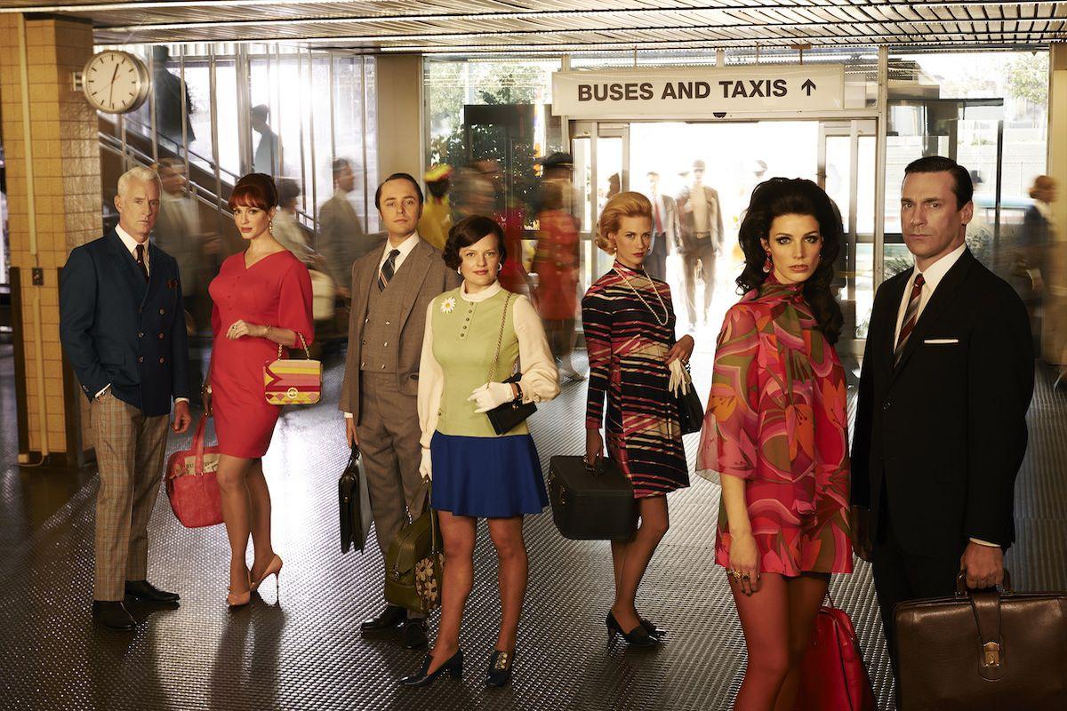 The cast of Mad Men in season seven, which premieres April 13. Image via AMC.