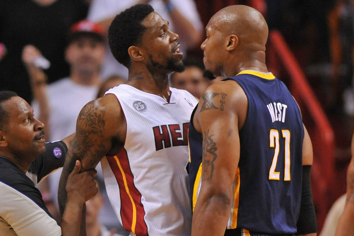 Udonis Haslem and David West have had their number of conversations