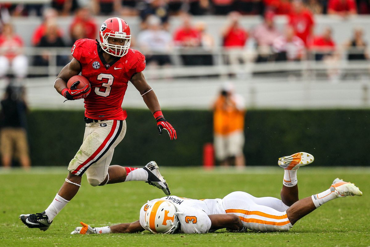 Here's hoping that, in this matchup, names will mean nothing, Todd Gurley will prove himself to be all man, and Will Muschamp will remain a loser!