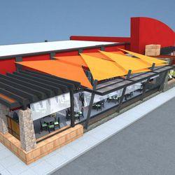 Rendering of the fourth Firefly tapas restaurant.